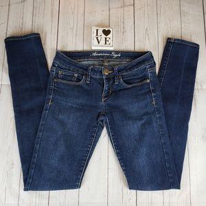 American Eagle Dark Wash Stretch Skinny Jeans sz 4